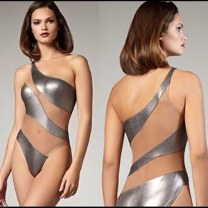 Other - Bodysuit silver nude